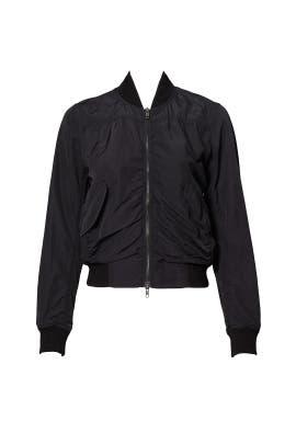 Black Shrunken Bomber Jacket by VINCE.
