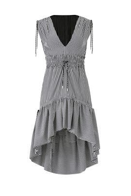 Striped High Low Dress by Christian Pellizzari