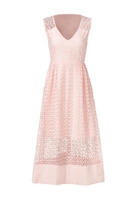 Blush Geometric Lace Dress by ST by Olcay Gulsen