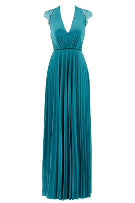 Aqua Elouise Gown by CATHERINE DEANE