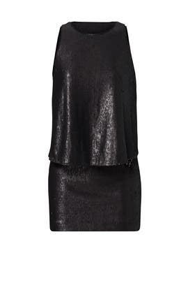 Black Sequin Popover Sheath by Halston Heritage