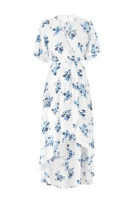 Floral Faux Wrap Maxi by Moon River