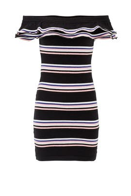 Friday Frill Striped Mini Dress by MSGM