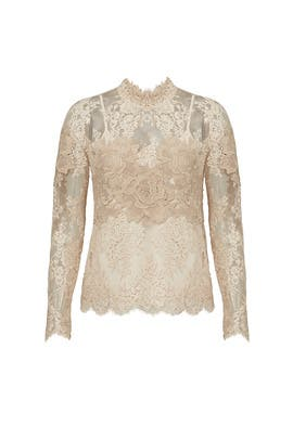 High Neck Lace Top by Saylor