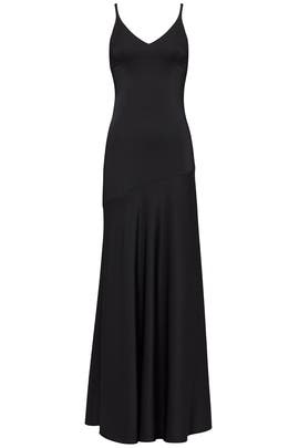 Black Silk Slip Gown by Cedric Charlier