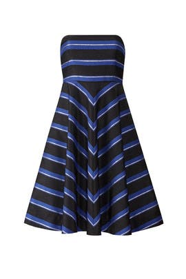 Metallic Stripe Dress by Halston Heritage