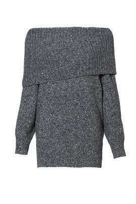 Dark Grey Tweed Femie Sweater by Joie