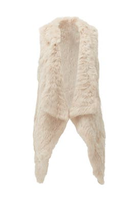 Beige Fur Vest by Jocelyn