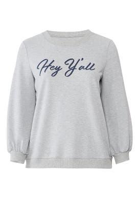 Hey Y'all Sweatshirt by Draper James X ELOQUII