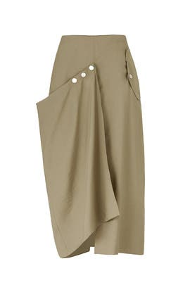 Moss Washed Skirt by Tibi