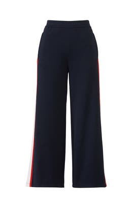Navy Wide Leg Track Pants by Tory Sport