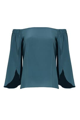 Teal Off Shoulder Top by Bailey 44
