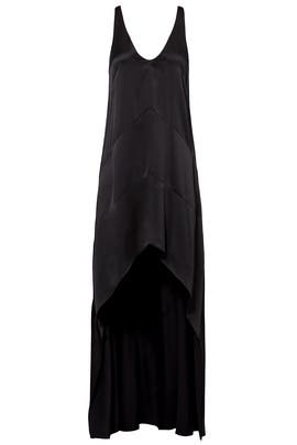 Black High-Low Slip Gown by Narciso Rodriguez