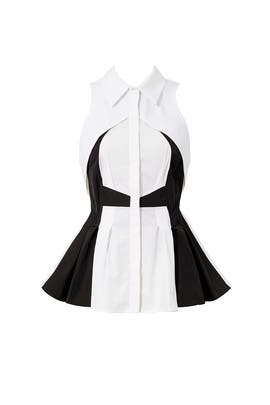 Black and White Collared Top by Antonio Berardi
