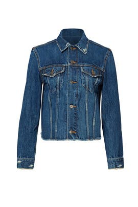 Blue Denim Engineer Jacket by VINCE.