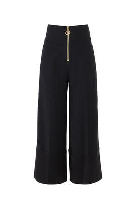 Front Zip Wide Leg Pants by Derek Lam 10 Crosby