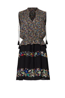 Floral Stripe Mash Up Dress by Derek Lam 10 Crosby