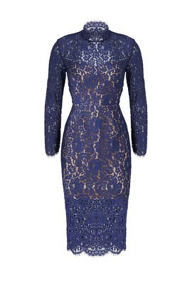 Navy Momento Lace Dress by Keepsake