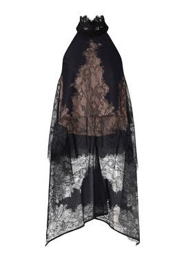 Black Lace Row Top by nha khanh