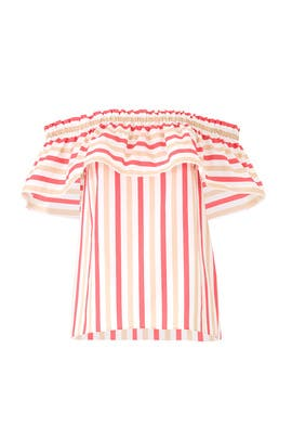 Peach Sherbet Stripe Top by kate spade new york