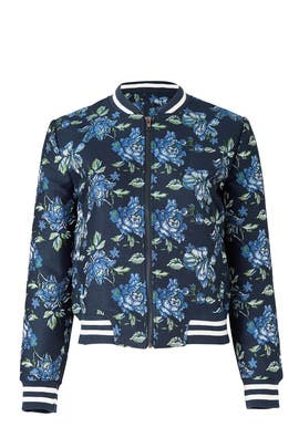 Zoey Floral Bomber Jacket by BB Dakota