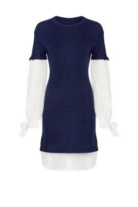 Navy Flare Dress by devlin