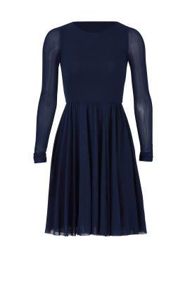 Sheer Sleeve Dress by Fuzzi