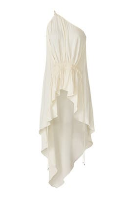 Cream High Low Top by Halston Heritage