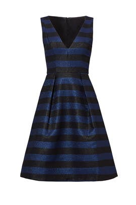 Iridescent Blue Stripe Dress by Hutch