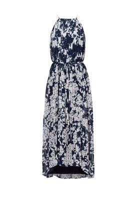 Blue Floral Print Midi Dress by Slate & Willow