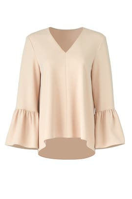 Nude Structured Top by Tibi