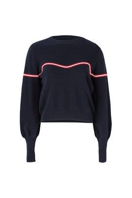 Sculpture Stripe Sweater by The Fifth Label