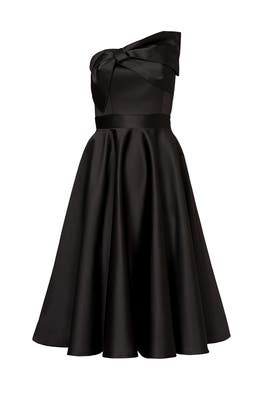 Black Bow Tea Dress by Cynthia Rowley