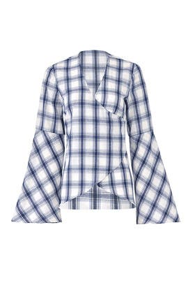 Plaid Invincible Wrap Top by somedays lovin