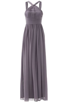 Charcoal Hayley Halter Gown by Slate & Willow