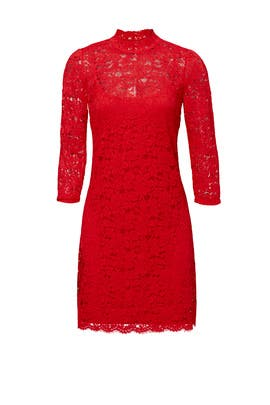 Red Mod Lace Dress by Slate & Willow