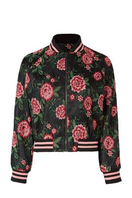 Floral Varsity Bomber by Slate & Willow