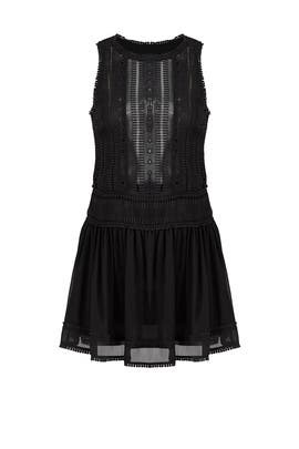 Black Panelled Lace Dress by Nicholas