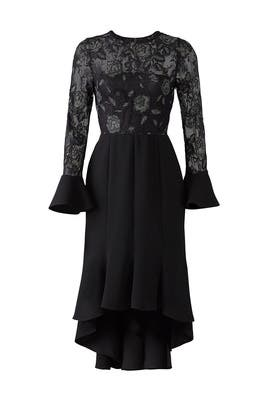 Black Lace Midi Dress by Slate & Willow