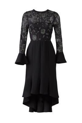 Black Lace Midi Dress by Slate & Willow