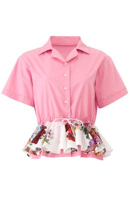 Pink Floral Cabana Shirt by Tome