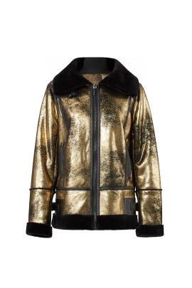 Metallic Foil Faux Jacket by Avec Les Filles