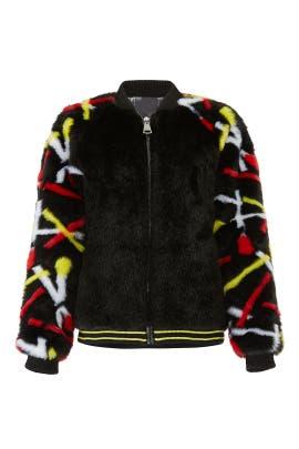Real People Faux Fur Jacket by Heurueh