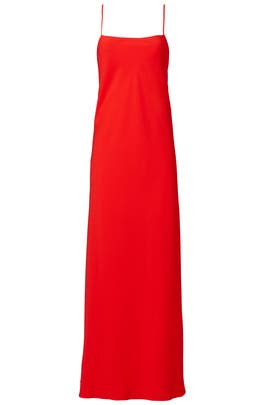 Poppy Red Ruffle Gown by Jill Jill Stuart