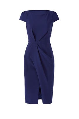 Navy Twist Dress by JS Collection