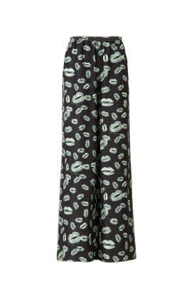 Lip Printed Flare Pants by Nina Ricci