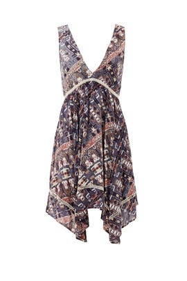 Asymmetrical Desert Print Dress by BB Dakota