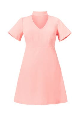 Pink Choker Neck Dress by ELOQUII