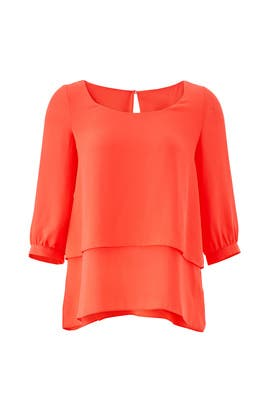 Coral Tiered Top by Paper Crown