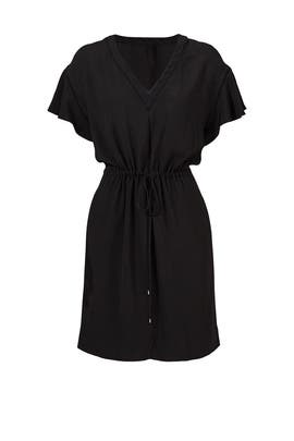 Black Drawstring Relax Dress by Rebecca Taylor